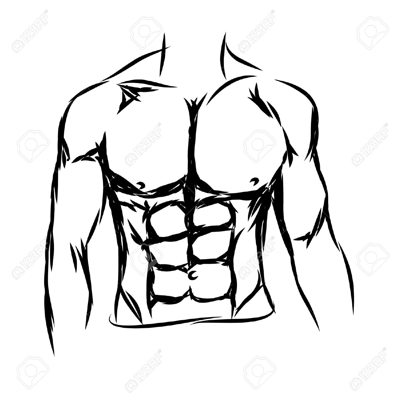 1300x1300 Chest Drawing For Free Download