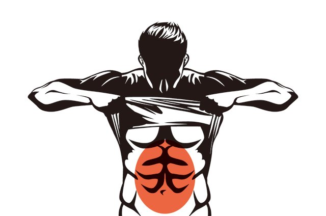 640x424 Muscle, Drawing, Man, Transparent Png Image Clipart Free Download