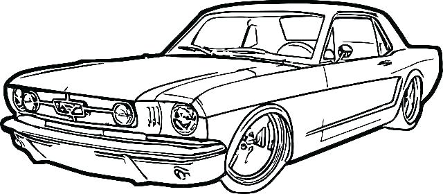 640x280 Muscle Car Drawing Drawings Step
