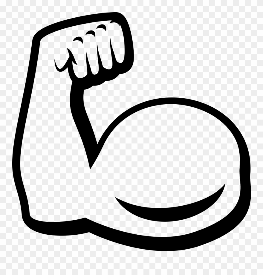 880x920 Biceps Drawing Art