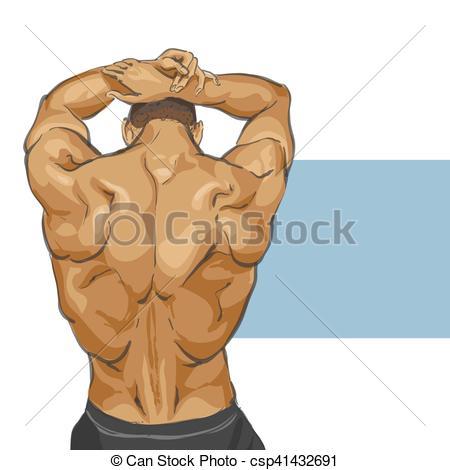 450x470 muscular man body fitness muscular man body illustration