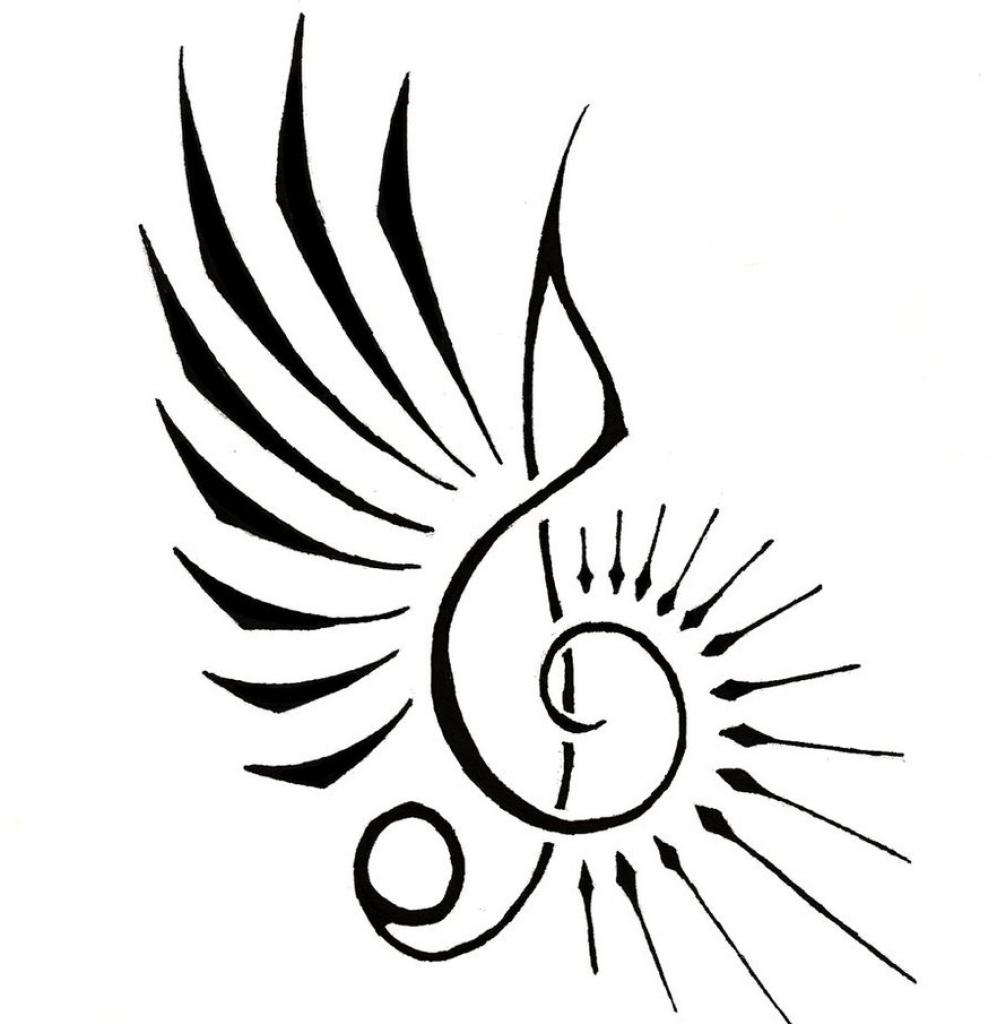 997x1024 cool symbol drawings music note symbol drawing at getdrawings