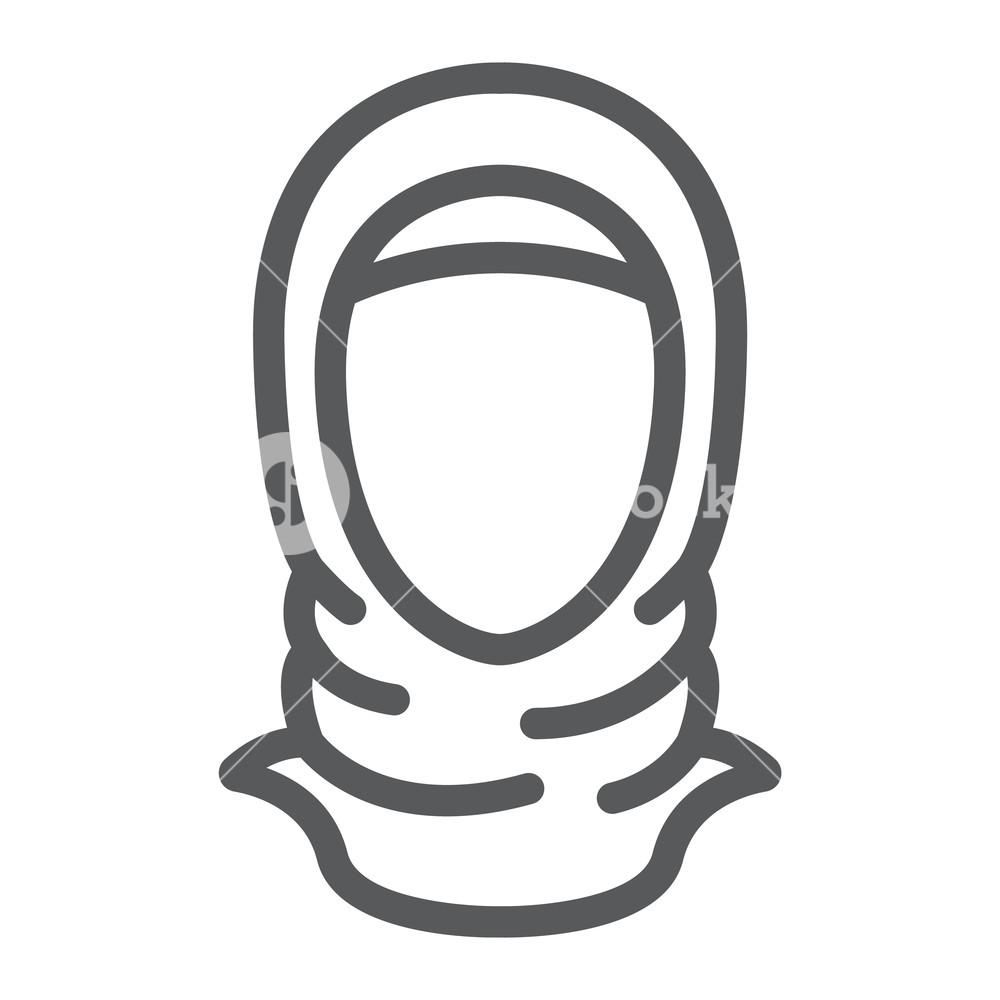 Hijab Drawing Girl
