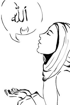 Muslim Woman Drawing