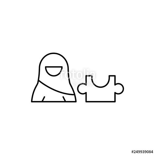 500x500 strategy, muslim woman icon element of businesswoman in muslim