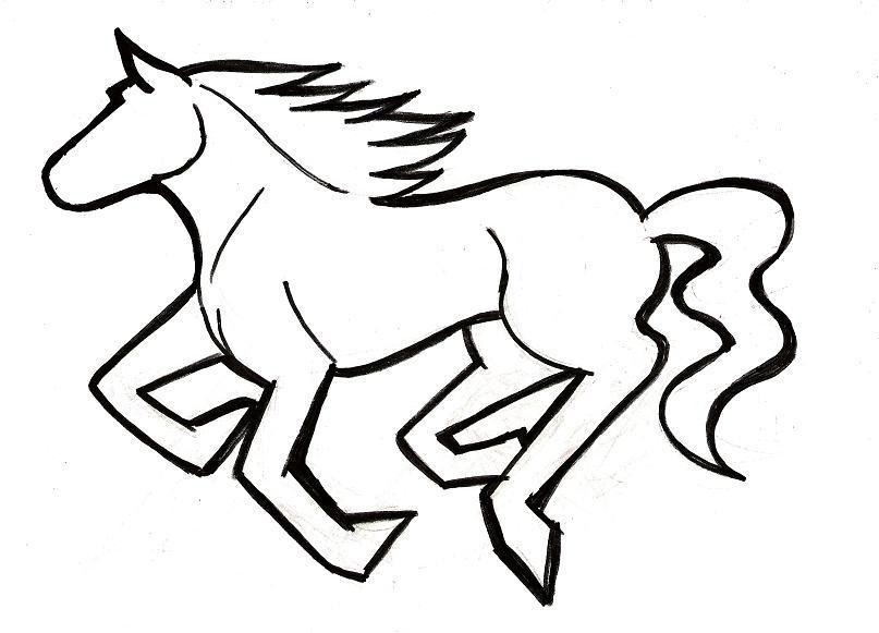 Mustang Drawing Step By Step