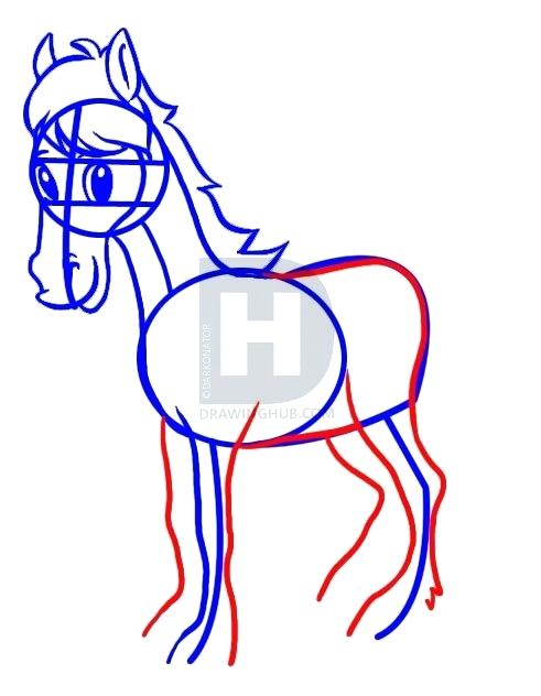 491x632 simple drawing of a horse simple horse simple drawing mustang