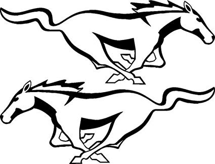 425x324 ford mustang decal ford mustang horse vinyl decal