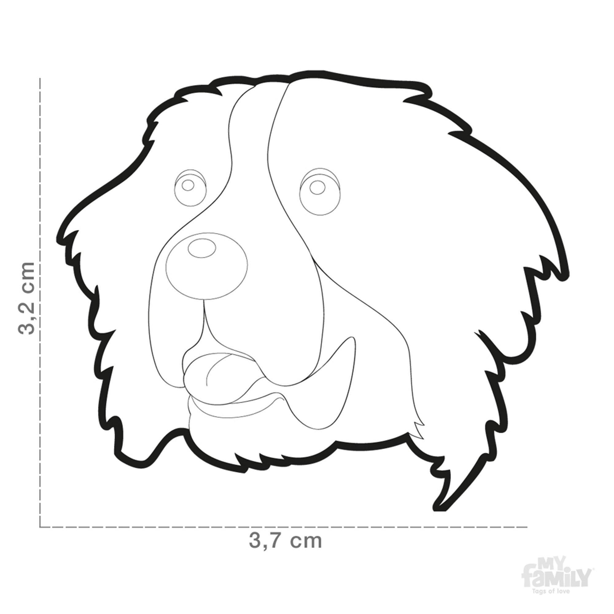 2000x2000 bernese mountain dog id tag dog name tag free engraving