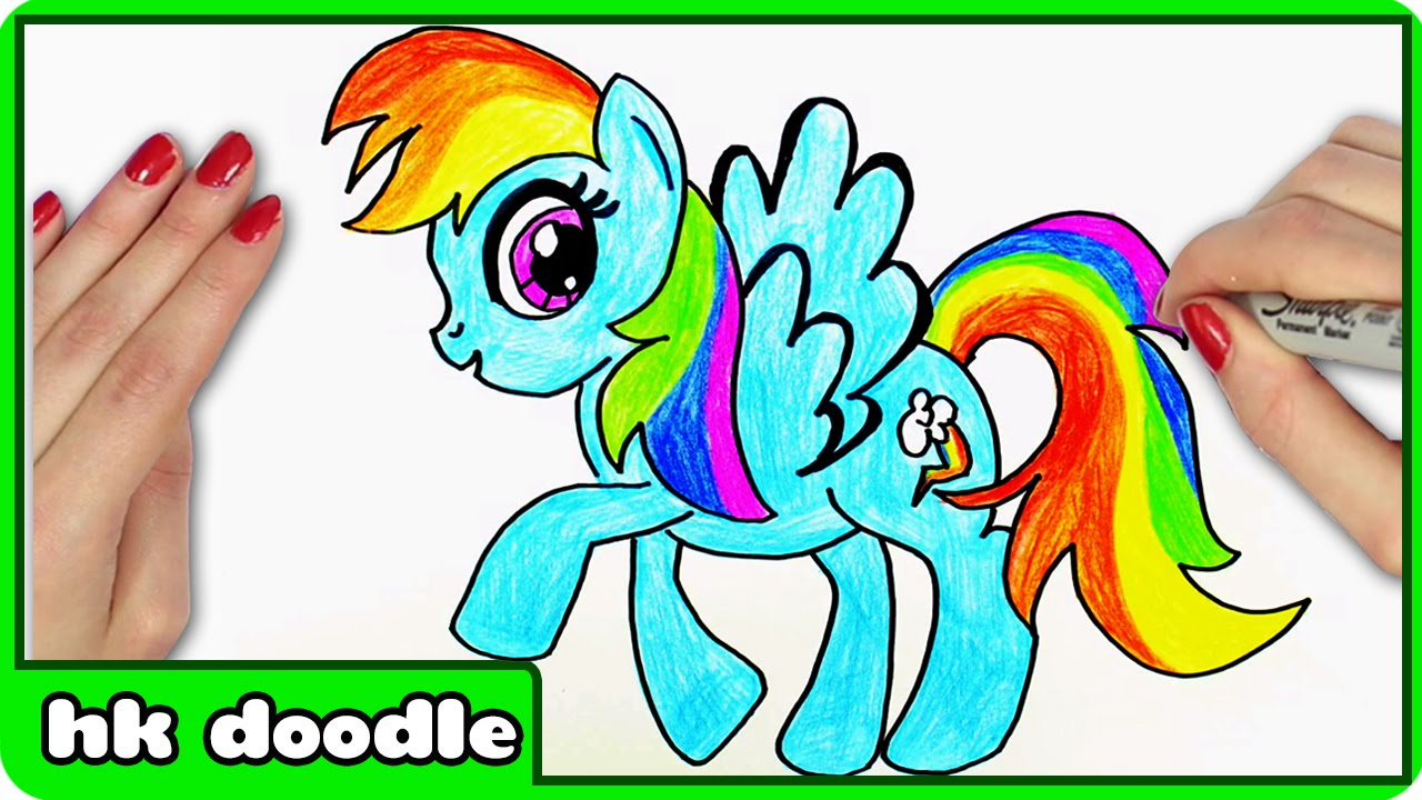 1280x720 How To Draw Rainbow Dash From My Little Pony Step