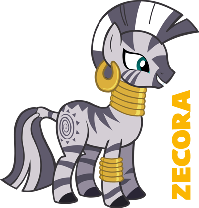 400x419 How To Draw Zecora From My Little Pony With Easy Step