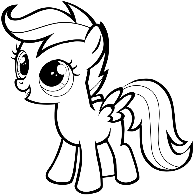 683x687 How To Draw A My Little Pony Easy Step