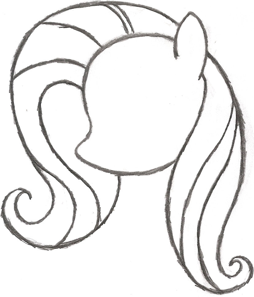 827x965 Pony Drawing Fluttershy For Free Download