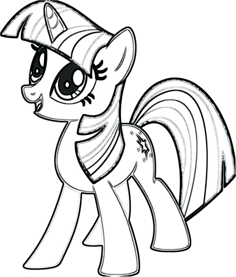 900x1056 Pony Drawing Template For Free Download