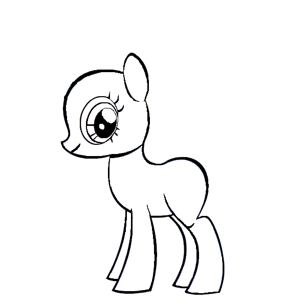 600x600 My Little Pony Template