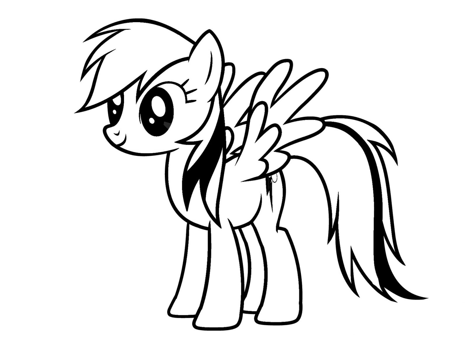 My Little Pony Drawing Template | Free download on ClipArtMag