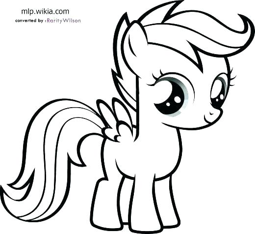 520x476 Coloring Pages Rainbow Dash Coloring My Little Pony Outline