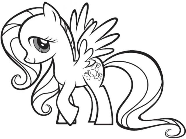 640x480 Drawn My Little Pony Outline