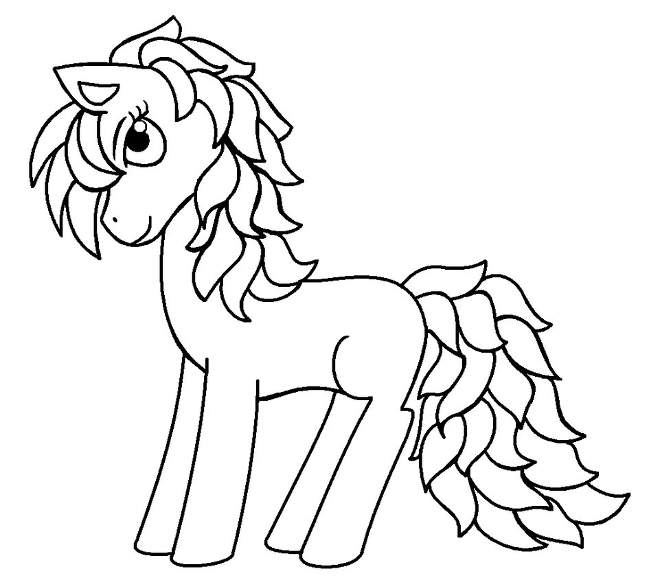 945x845 Pony Drawing Outline For Free Download