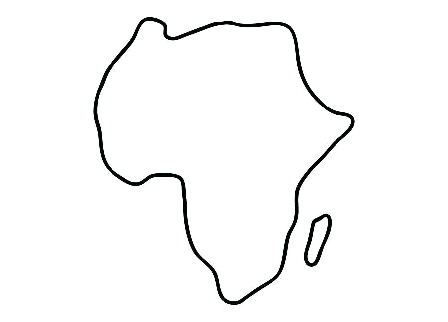 900x647 Drawing Of Africa