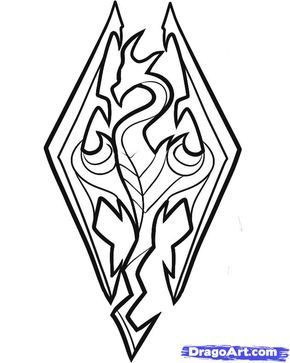 290x363 How To Draw Skyrim, Skyrim Logo Step N Skyrim Tattoo, Skyrim