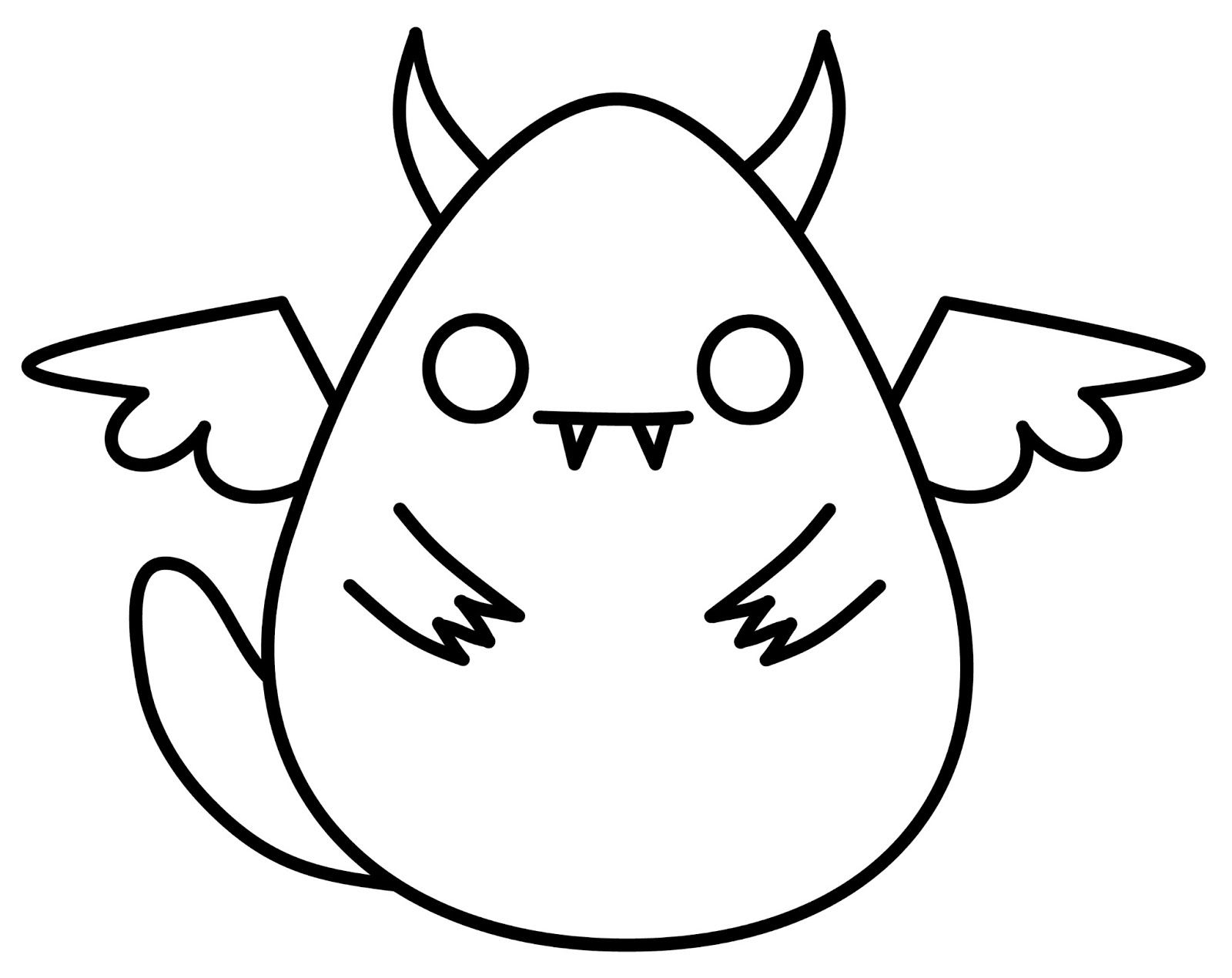 1600x1270 Cute N Kawaii How To Draw A Kawaii Monster Drawing