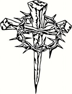 Nail Cross Drawing Free Download Best Nail Cross Drawing On