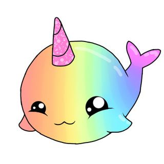 Narwhal Cartoon Drawing   Free download on ClipArtMag