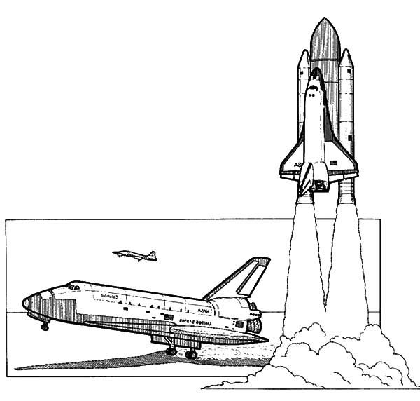 Nasa Spaceship Drawing