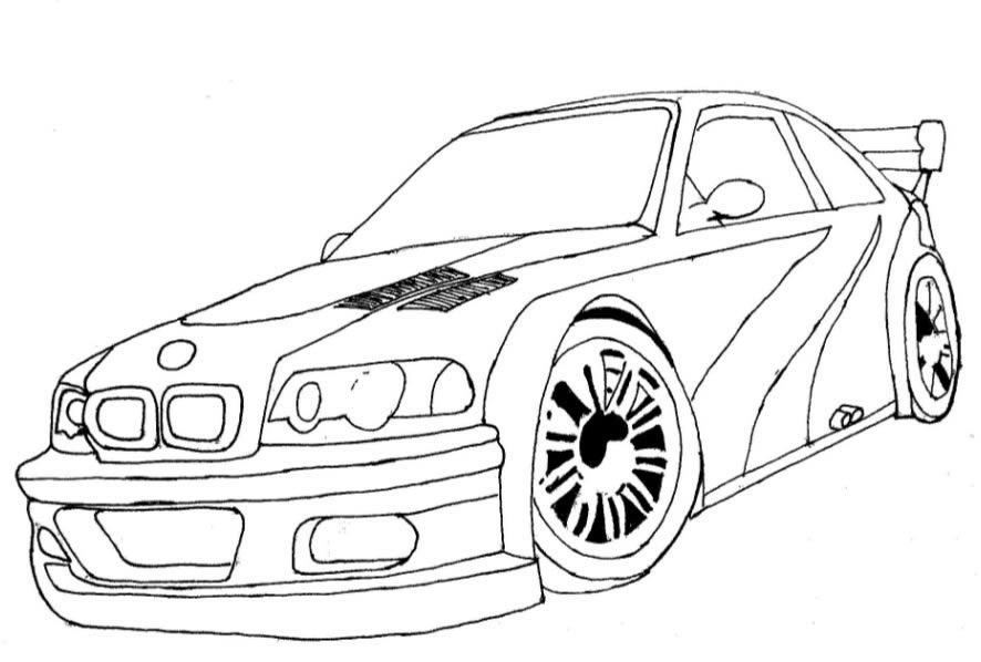 886x598 Nascar Drawing Need For Speed Car For Free Download