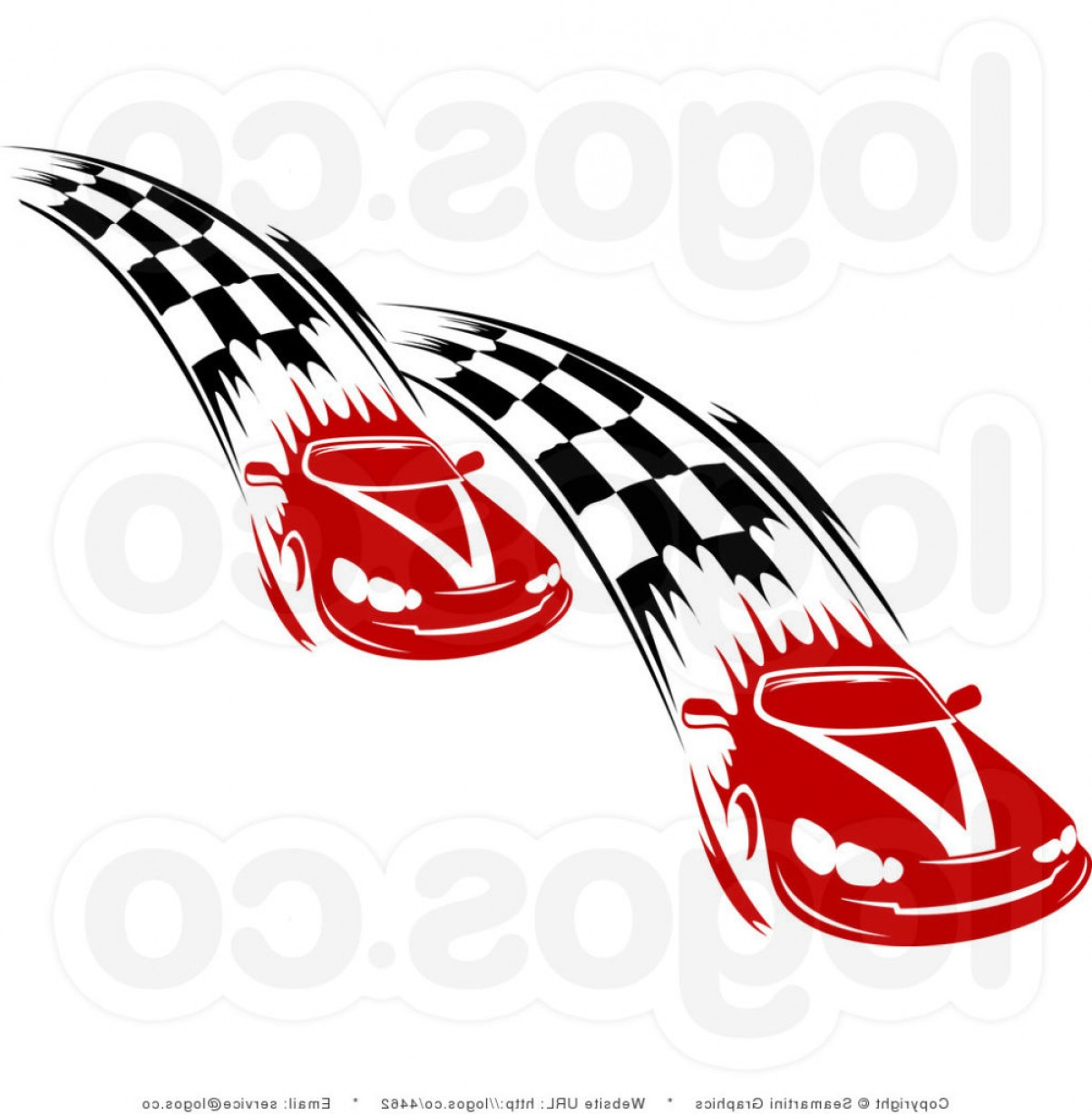 1204x1228 Racer Clipart Race Royalty Free Red Cars And Checkered Streaks