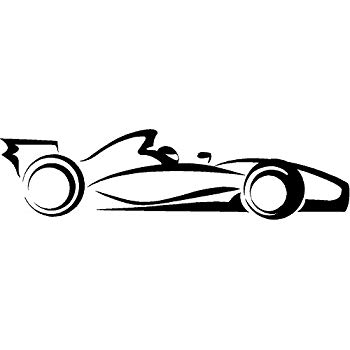 350x350 Race Car Indy Car Racing Nascar Vinyl Wall Decal