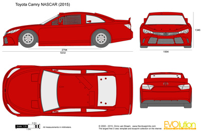 400x261 Toyota Camry Nascar Vector Drawing