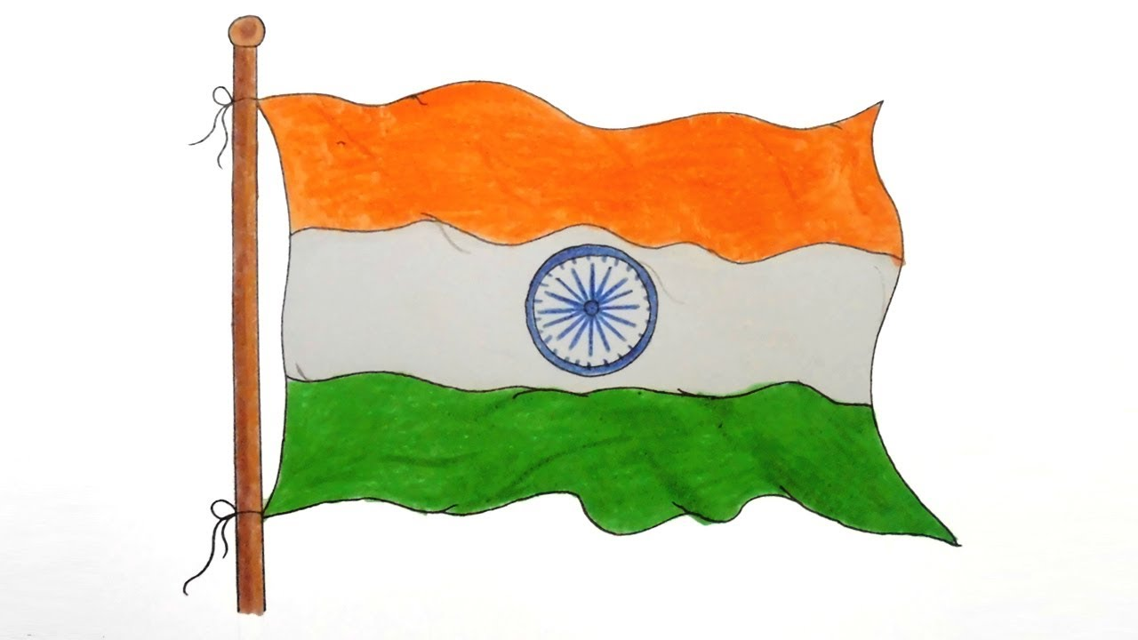 1280x720 How To Draw National Flag Of India Step