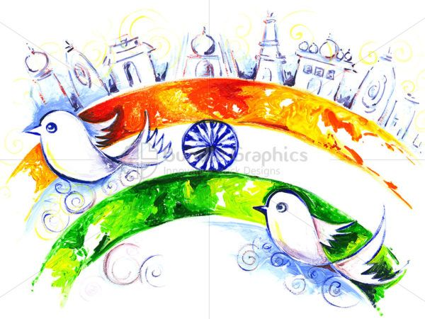 600x450 Independence Day Of India Handmade Painting Ind Day
