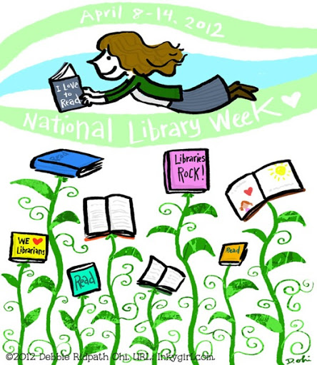 444x512 My National Library Week Drawing