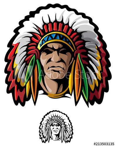 395x500 Native American Chief