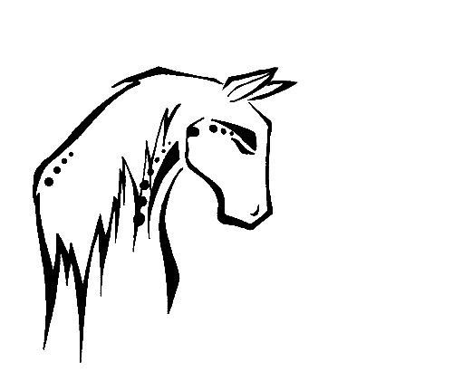 500x410 native american water tattoo native american horse drawings
