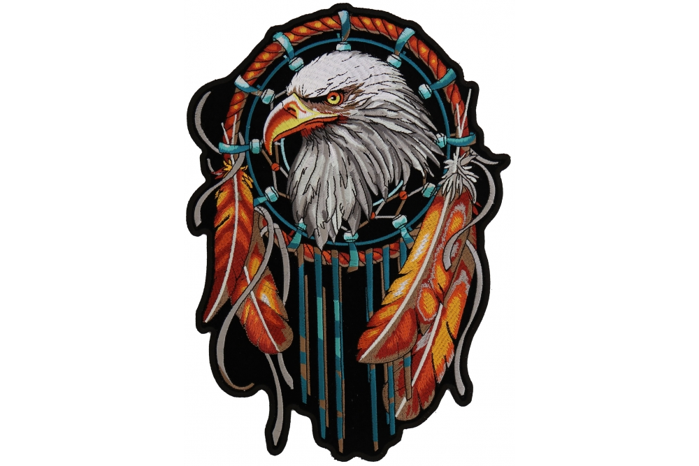 1000x667 eagle dream catcher patch native american indian thecheapplace