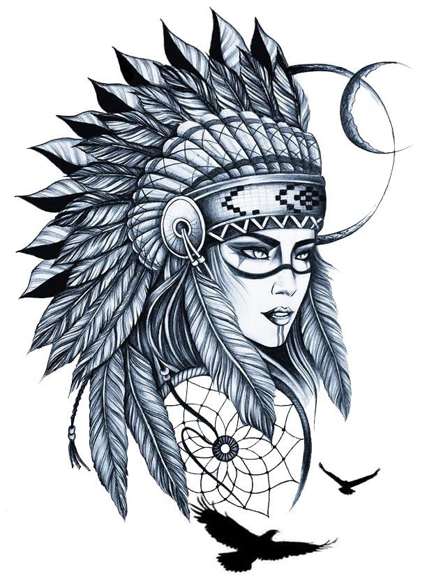 Native American Indian Woman Drawing | Free download on ...
