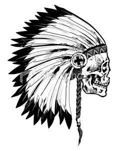 Native American Skull Drawing