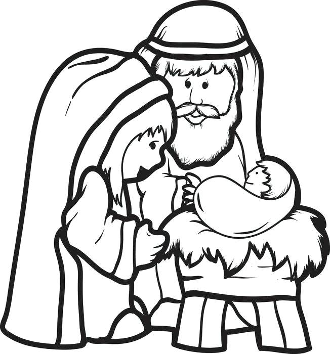 Nativity Drawing For Kids   Free download on ClipArtMag