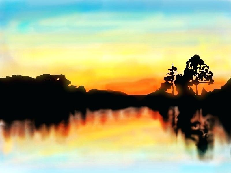 800x600 how to draw a sunset draw sunset
