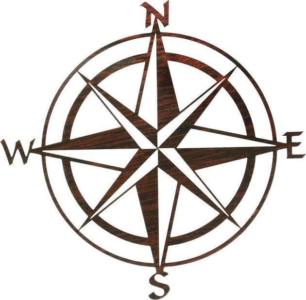 630x619 Nautical Compass Rose Nautical Relief Metal Wall Art
