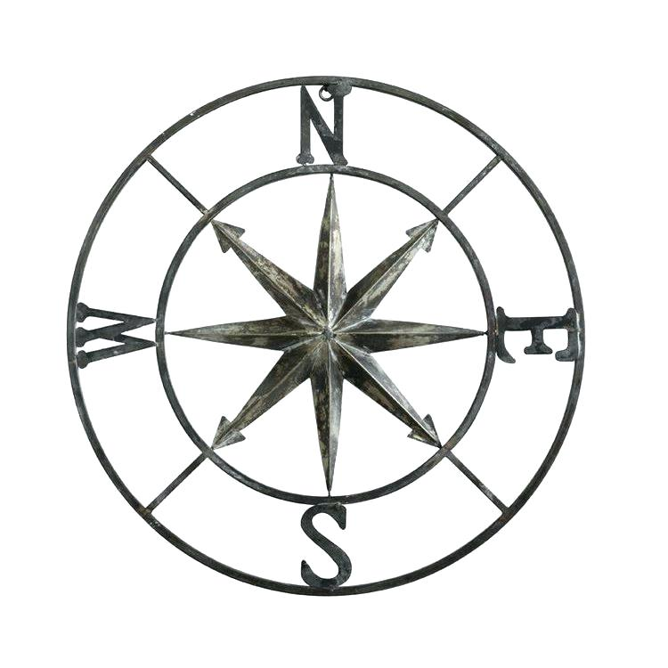 750x750 Nautical Compass Rose Wall Decor Inch Round Metal Art