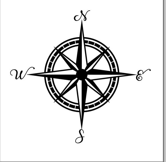580x565 Nautical Compass