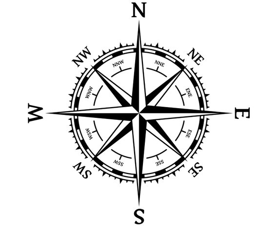 570x466 Rose Of Winds Nautical Marine Compass Rose Etsy