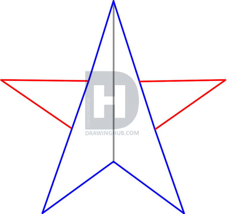 763x720 How To Draw A Nautical Star, Step