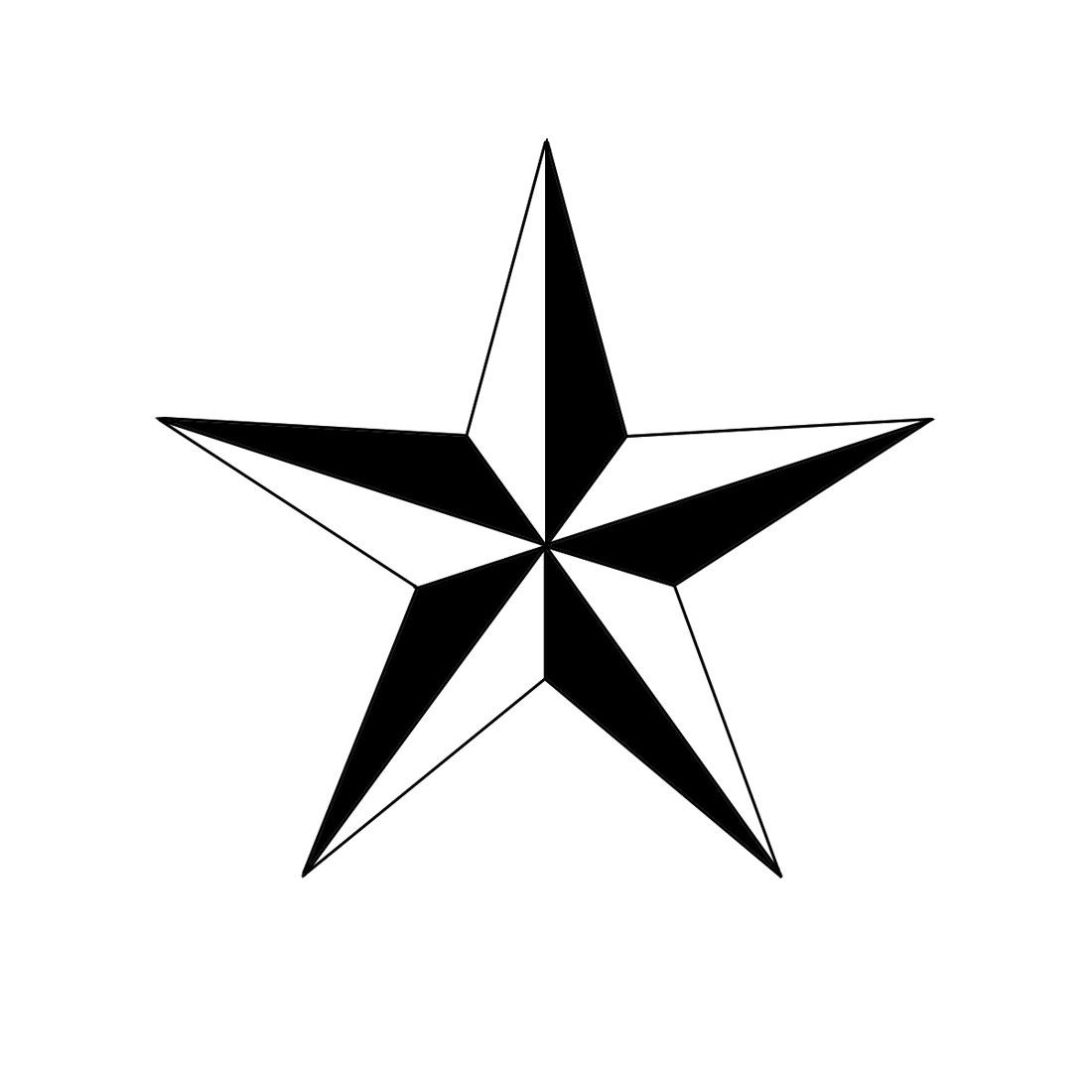 1100x1100 How To Draw A Nautical Star Steps