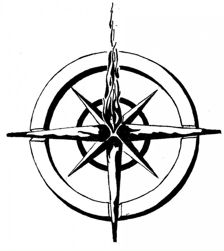 900x1008 Latest Nautical Star Compass Tattoo